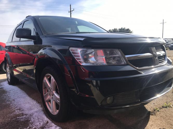 2009 Black Dodge Journey SXT AWD (3D4GH57V09T) with an 3.5L V6 SOHC 24V engine, 6-Speed Automatic transmission, located at 1800 South Ihm Blvd, Freeport, IL, 61032, (815) 232-5543, 42.278645, -89.607994 - Photo #0