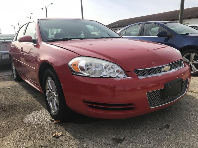 2013 Lipstick Red Chevrolet Impala LS (Fleet) (2G1WF5E36D1) with an 3.6L V6 DOHC 16V FFV engine, 6-Speed Automatic transmission, located at 1800 South Ihm Blvd, Freeport, IL, 61032, (815) 232-5543, 42.278645, -89.607994 - Photo #0