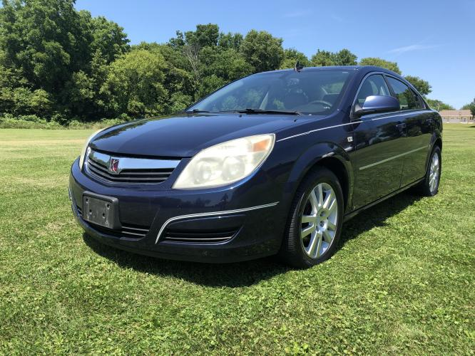 2008 Deep Blue Saturn Aura XE (1G8ZS57N78F) with an 3.5L V6 12V OHV engine, 4-Speed Automatic Overdrive transmission, located at 1800 South Ihm Blvd, Freeport, IL, 61032, (815) 232-5543, 42.278645, -89.607994 - Photo #1